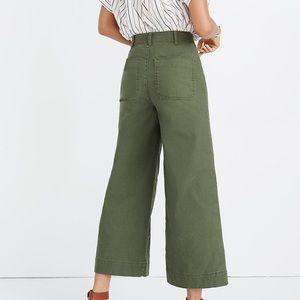 Emmet Wide-Leg Cropped Pants/ Madewell